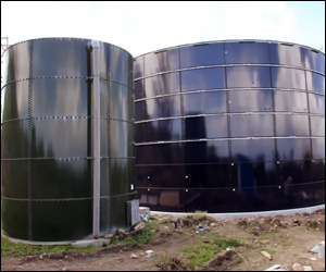New Water Tanks On Nevis
