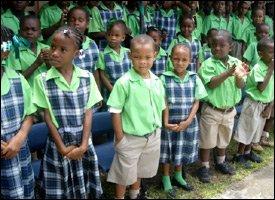 Newtown Ground, St. Kitts Primary School Children