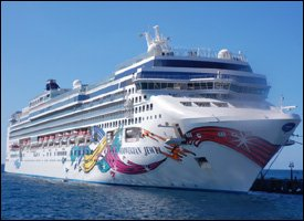 Norwegian Dawn Docked In St. Kitts
