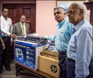 St. Kitts – Nevis Receives Computers To Fight Crime