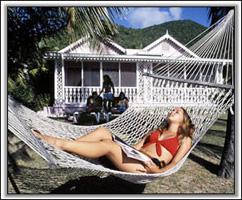 Hammock at The Oualie Beach Resort Hotel