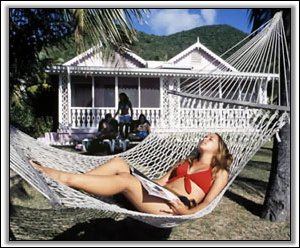 Relaxing at The Oualie Beach Resort Hotel