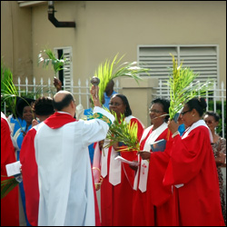 The Palm Sunday Blessing In St. Kitts