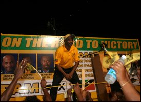 PAM Rally In East Basseterre