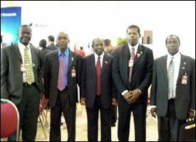 St. Kitts - Nevis Delegation For The PETROCARIBE Summit