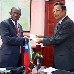 PM Douglas and Ambassador Wu