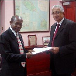 PM Douglas Accepts Credentials From New Cuban Ambassador - Jorge Desiderio Payret Zubiaur