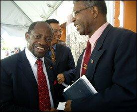 PM Douglas and Ambassador Gumbs