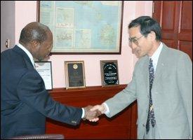 PM Douglas and Ambassador Iwata