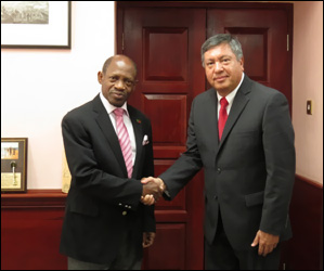 PM Douglas and Ambassador Moreno