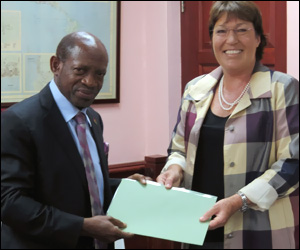 PM Douglas and Ms. Jan Henderson