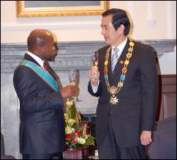 PM Douglas and President Ma Ying-Jeou
