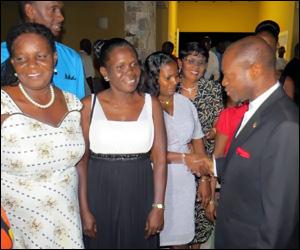 PM Douglas Greets PEP Participants