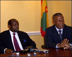 St. Kitts - Nevis' PM Douglas With Grenada PM Thomas