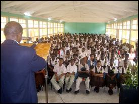 PM Douglas At Gingerland High School