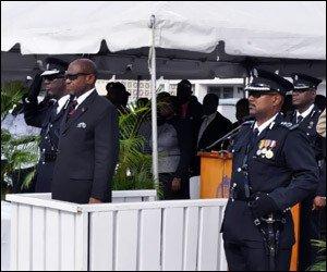 PM Douglas at Police Graduation