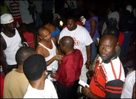 St. Kitts - Nevis' PM Douglas In The Crowd