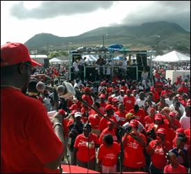 PM Douglas Speaks At Labour Day Parade - March 2008