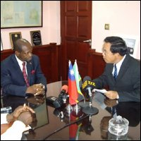 PM Douglas Meets With Taiwan's Ambassador Wu