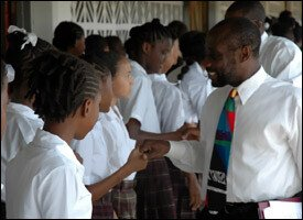 PM Douglas Meets With St. Kitts Students