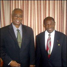 Premier Parry and Pm Douglas In Nevis