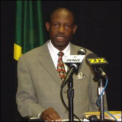 St. Kitts - Nevis' PM Douglas At Press Conference