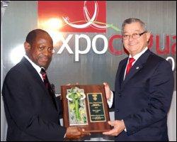 PM Douglas Receives Key To Caguas