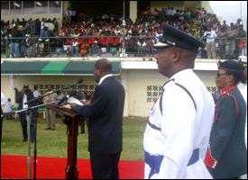 PM Douglas Delivering Silver Jubilee Speech