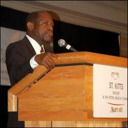 PM Douglas Speaking At Economic Consultation