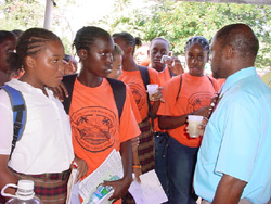 PM Douglas Speaks With Students