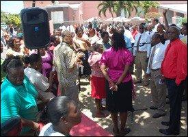 PM Douglas Speaks To Workers