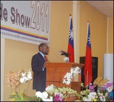 PM Douglas Addressing Taiwan Trade Expo