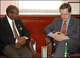 PM Douglas with Ambassador Olivera