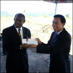 St. Kitts - Nevis PM With Chinese Ambassador