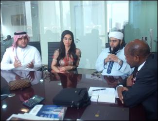 PM Douglas With Arab Investors
