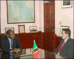 PM Douglas With Ambassador Schuller-Gotzburg