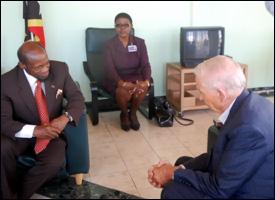 PM Douglas With Hotelier Bill Marriott