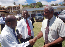 PM Douglas with Education Minister Carty