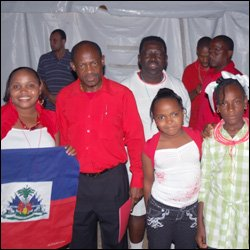 PM Douglas With Haitian Residents