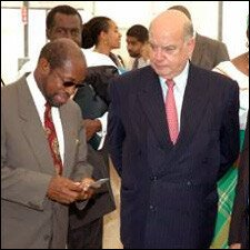 PM Douglas With Jose Miguel Insulza