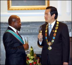 PM Douglas With President Ma Ying-Jeou