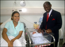 PM Douglas With Newborn Baby