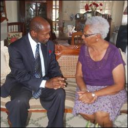 PM Douglas With Sheila Daniel