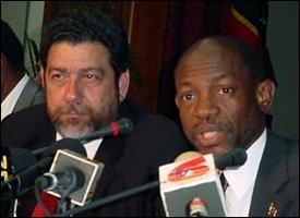 PM Ralph Gonsalves and PM Denzil Douglas