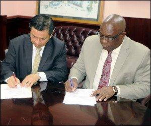 PM Harris and Ambassador Chiou