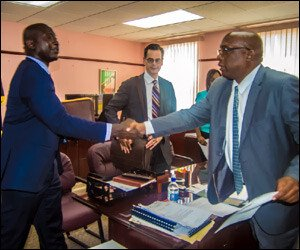 PM Harris (R) Meets With IMF Team