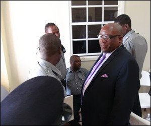 PM Harris Meets With Nevis Police