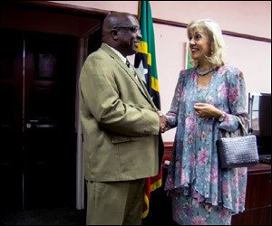 PM Harris with Ambassador Pernet