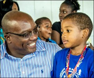 PM Harris With Young Athlete