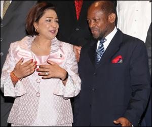 PM Persad-Bissessar and PM Douglas
